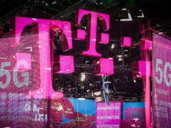 Telekom-Banner auf MWC 2019