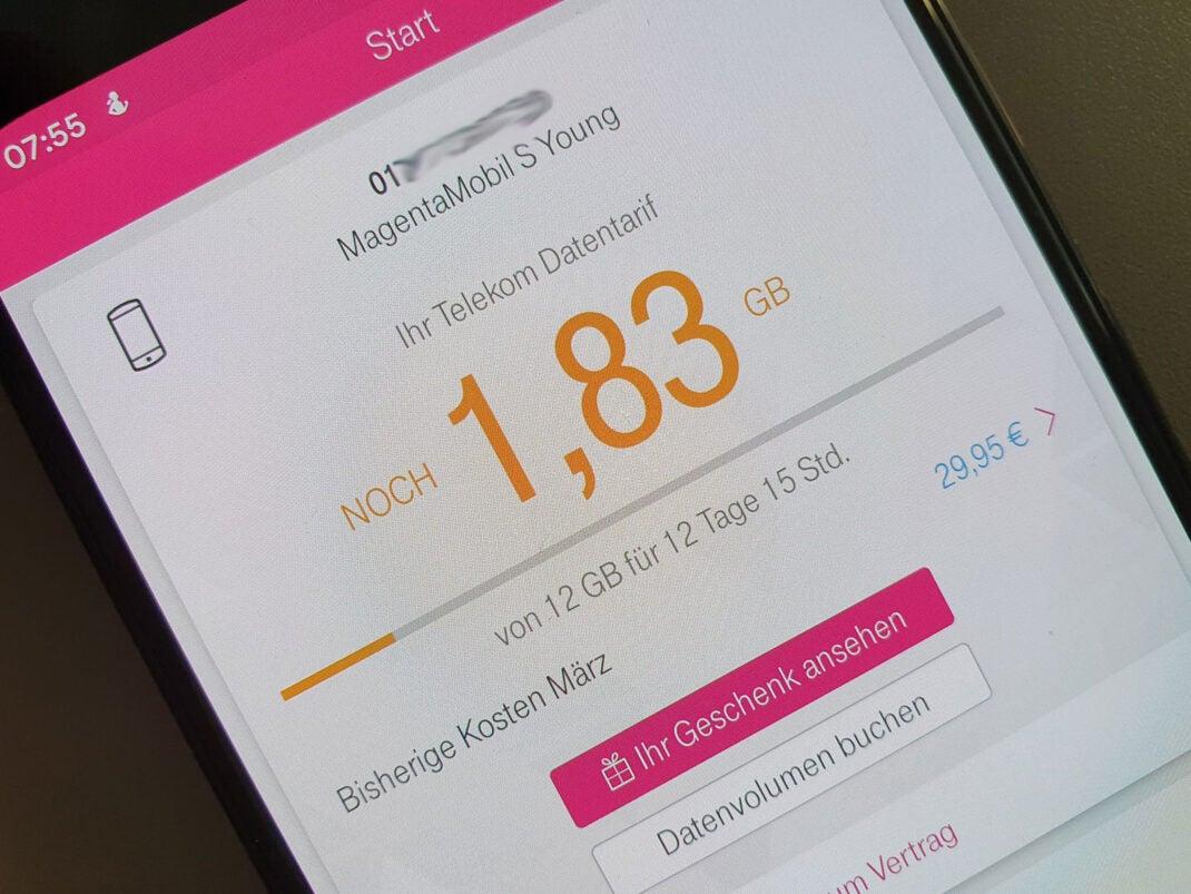 "Telekom-App ""Geschenk ansehen"""