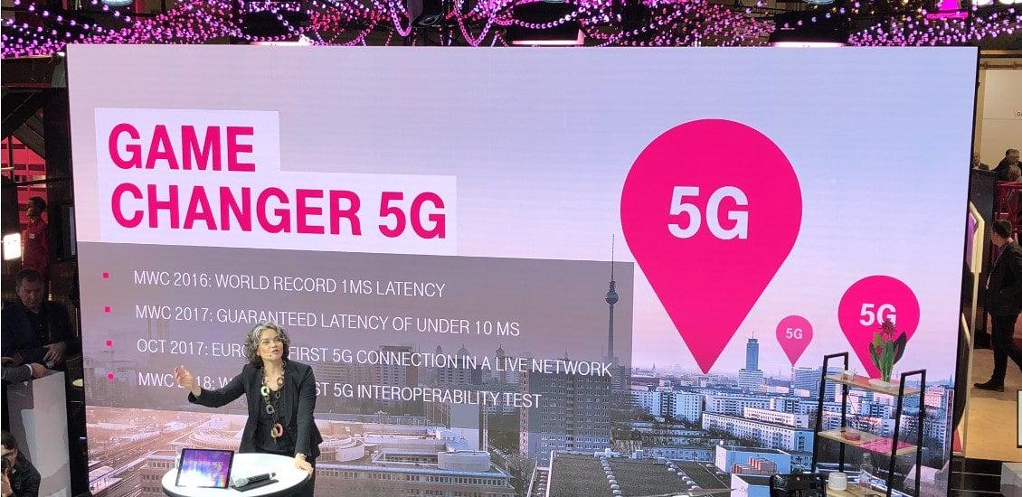 Telekom-Managerin Claudia Nemat spricht auf dem MWC 2018 über 5G
