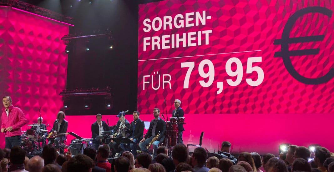 Telekom-Privatkundenchef Michael Hagspihl präentiert das Magenta-Mobil-Update