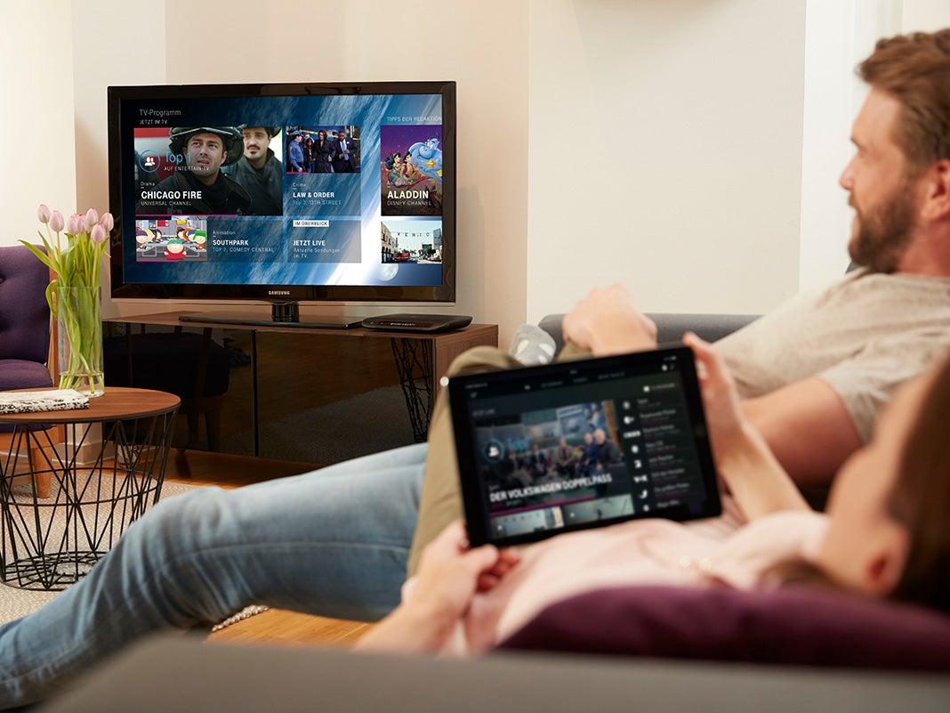 MagentaTV im Wohnzimmer