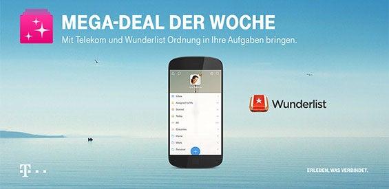Telekom Mega-Deal der Woche: Wunderlist