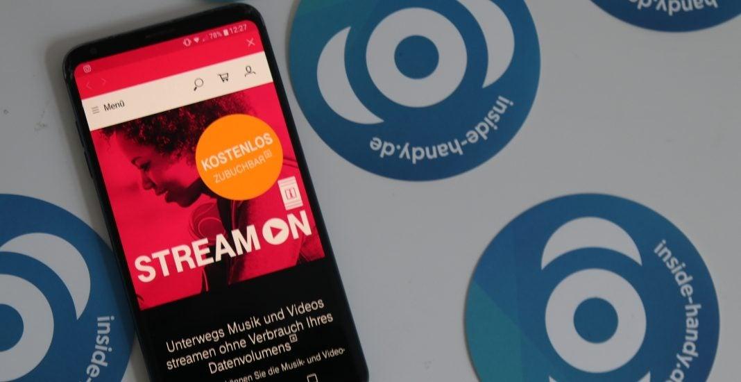 Telekom StreamOn auf einem Handy