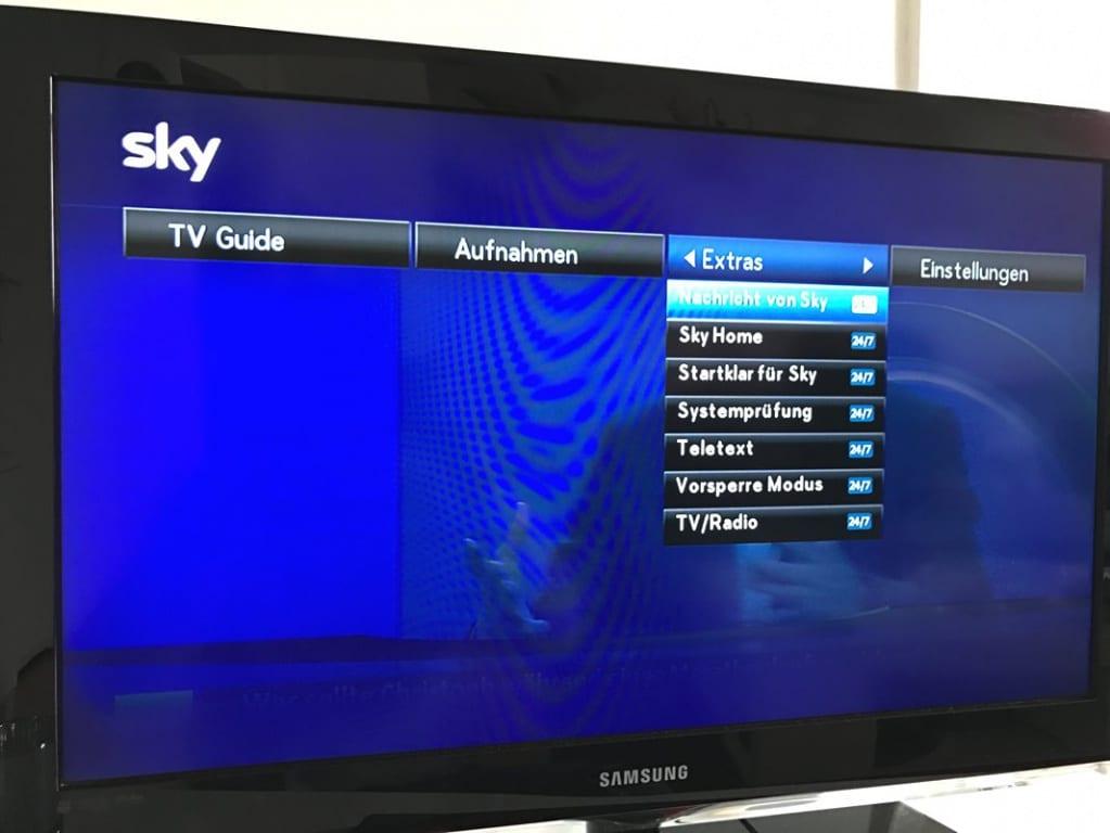 Sky+ Pro Receiver Aktuelle Software
