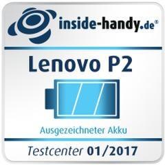 Testsiegel Akku Lenovo P2