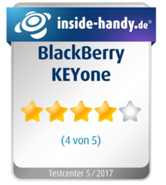 Testsiegel BlackBerry KEYone