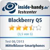 Testsiegel Blackberry Q5