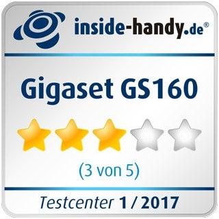 Testsiegel des Gigaset GS160
