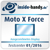 Testsiegel Display Moto X Force