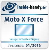 Testsiegel Display Moto X Force