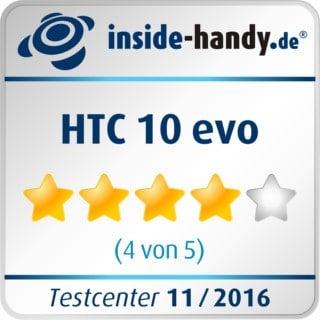 Testsiegel HTC 10 evo