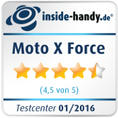 Testsiegel Moto X Force