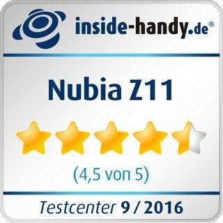 Testsiegel des Nubia Z11