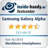 Testsiegel Samsung Galaxy Alpha
