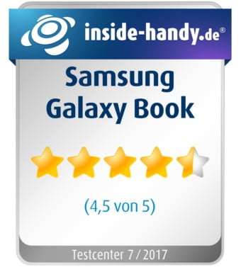 Testsiegel Samsung Galaxy Book