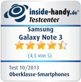 Testsiegel Samsung Galaxy Note 3