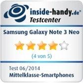 Testsiegel Samsung Galaxy Note 3 Neo