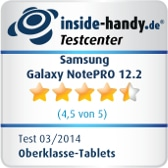 Testsiegel Samsung Galaxy NotePRO 12.2