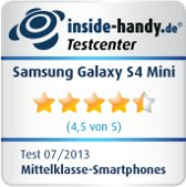 Testsiegel Samsung Galaxy S4 Mini