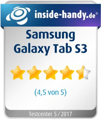 Testsiegel Samsung Galaxy Tab S3