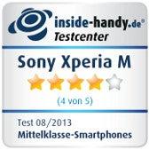Testsiegel Sony Xperia M