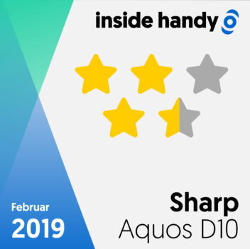 Testsiegel Sharp Aquos D10