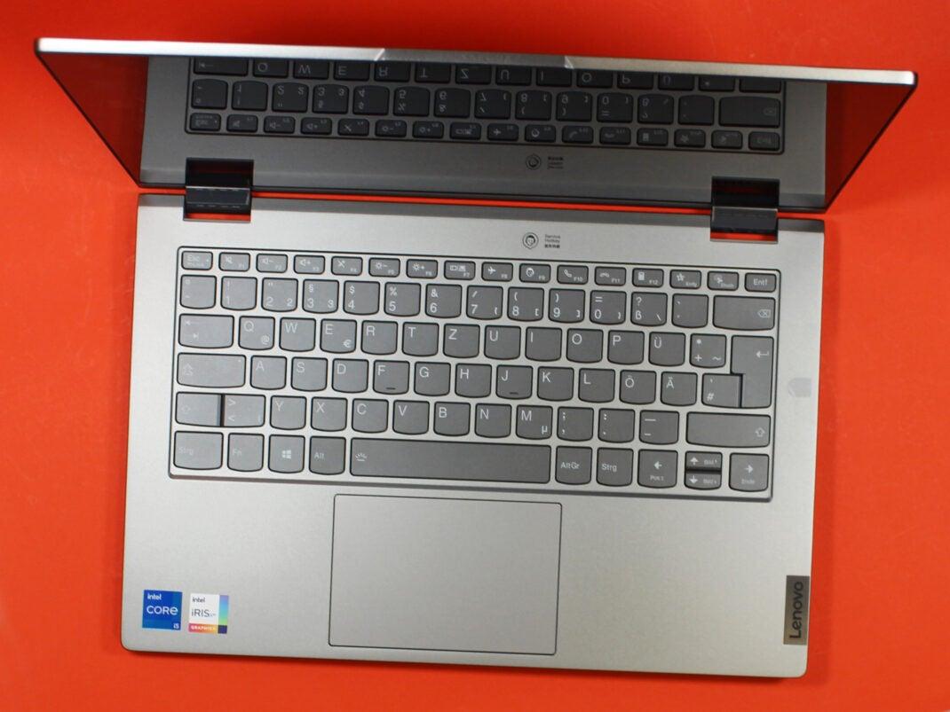 Tastatur des Lenovo Thinkbook 14s