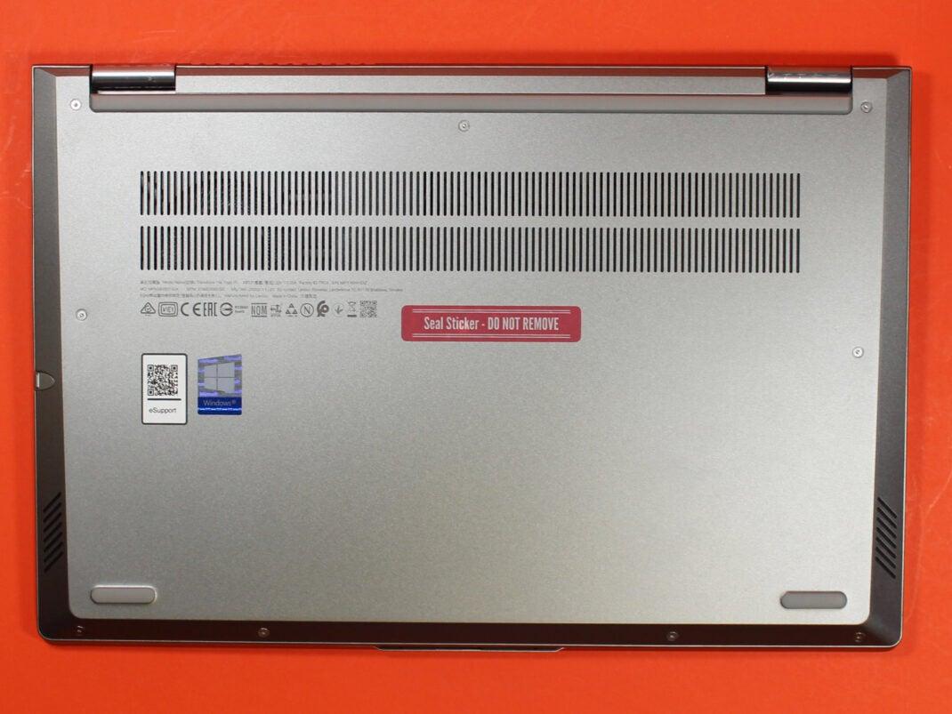 Unterseite des Lenovo Thinkbook 14s