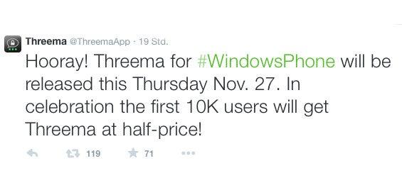Threema Twitter Windows Phone