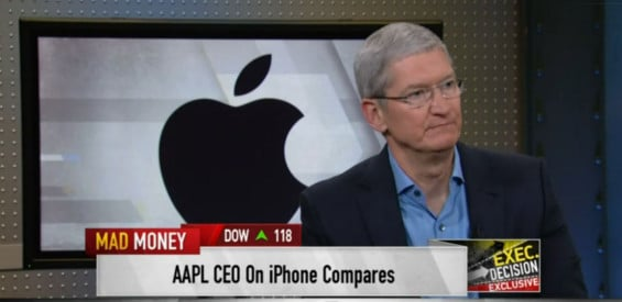 Tim Cook bei Mad Money