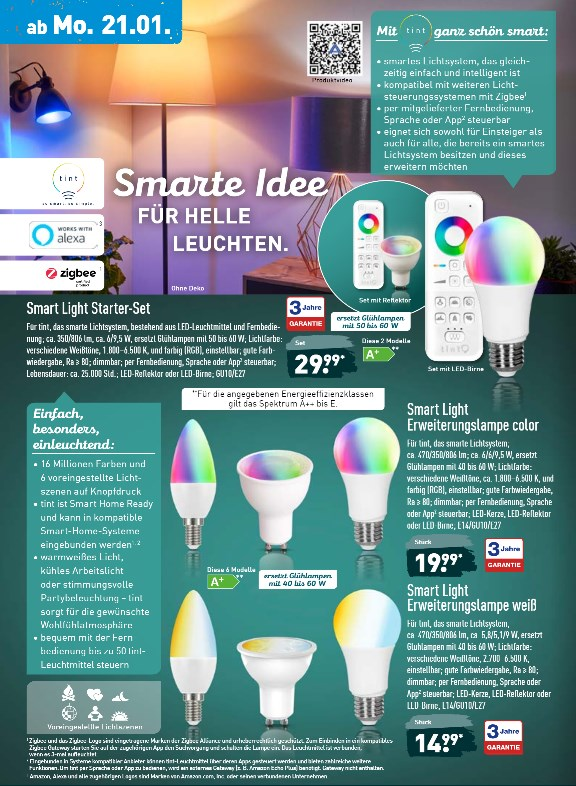 Smart Home Lampen Aldi Macht Philips Hue Konkurrenz