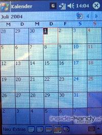 T-Mobile MDA 3 - Display kalender Monatsübersicht