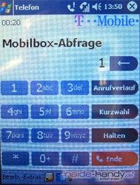 T-Mobile MDA 3 - Nummerntastatur für Anrufe