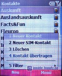 T-Mobile SDA music - Telefonbuch