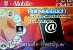 T-Mobile Sidekick 3: Adressbuch