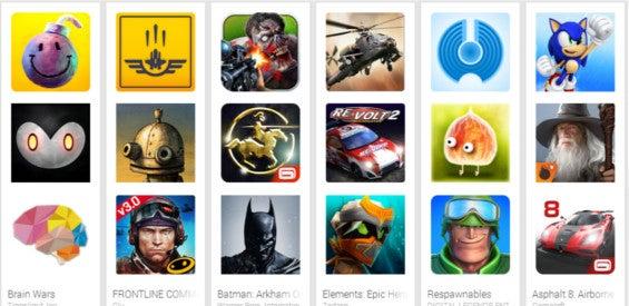 Top Spiele im Play Store 2014