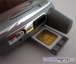 Treo 650 - SIM-Karte
