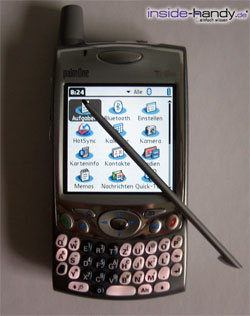 Treo 650 - Stift oben auf
