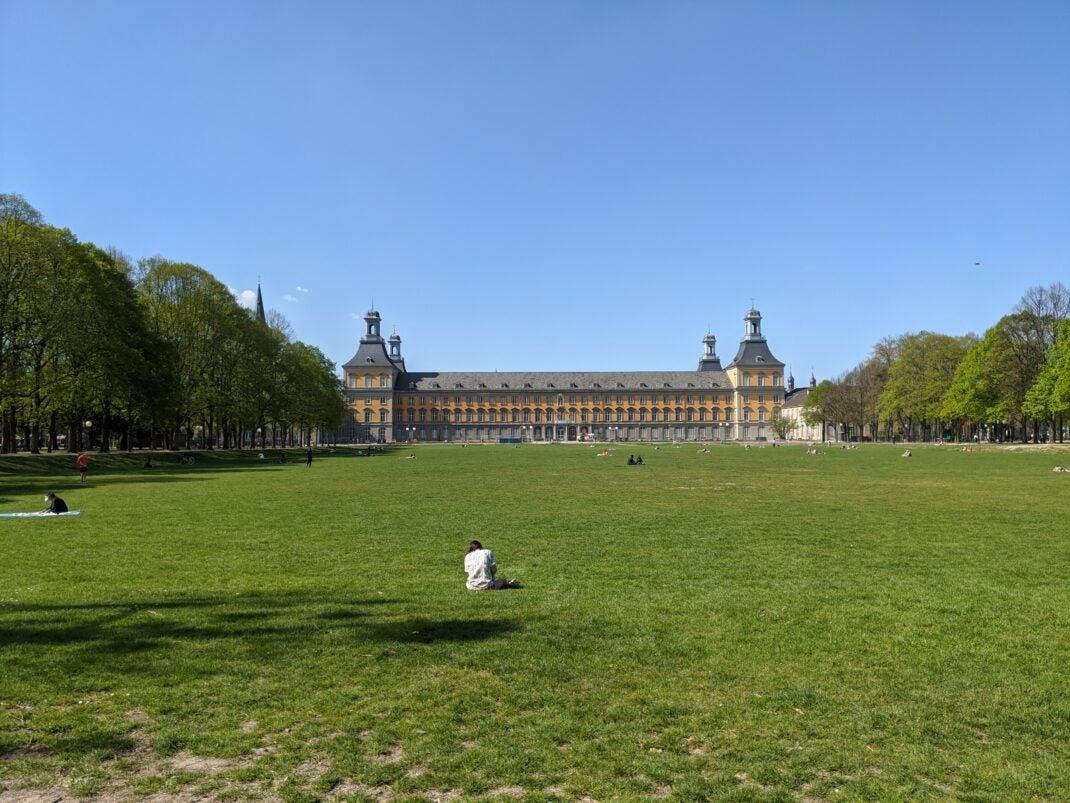 Uni und Hofgartenwiese in Bonn, Pixel 4