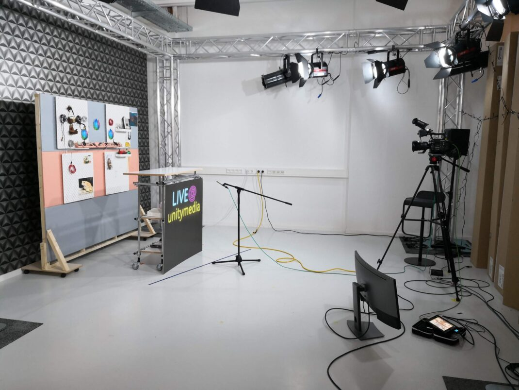 Blick ins Unitymedia-Videostudio