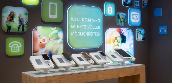 Smartphones im Shop von Unitymedia