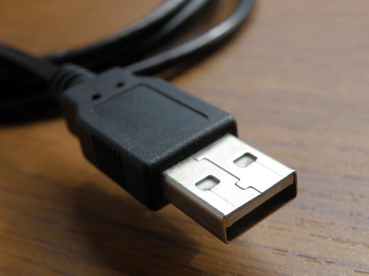 USB-Kabel mit Typ-A-Stecker.