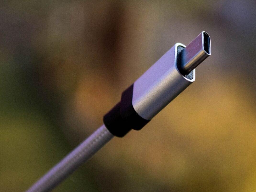 Ansicht eines USB-C-Kabels.