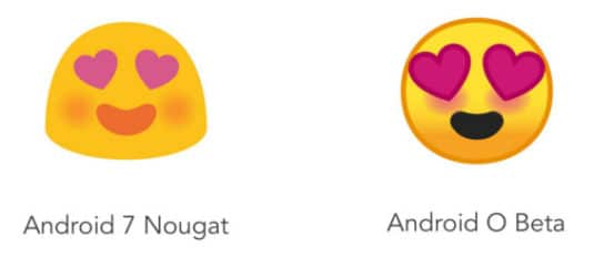 Vergleich Emojis Android 7 Android O Beta
