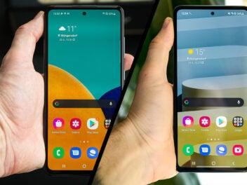 Smausng Galaxy A52 und A72 im Vergleich