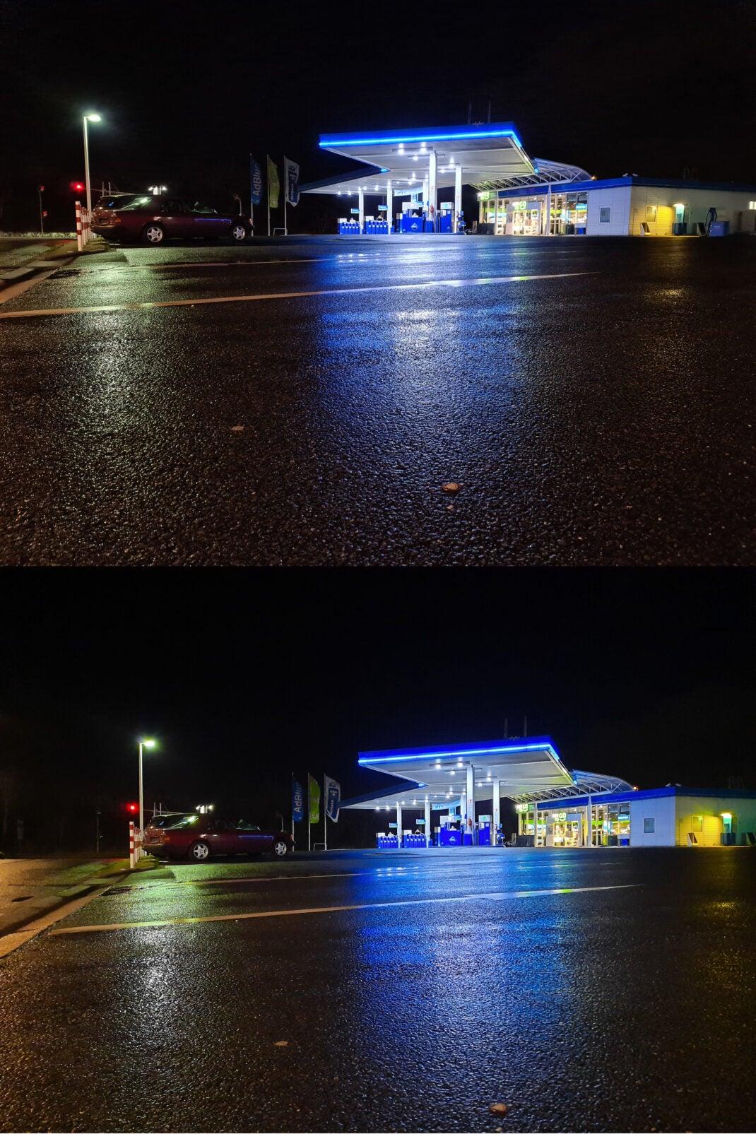 Foto-Vergleich zwischen dem Galaxy S20 Ultra (oben) und dem Galaxy A51 (unten)