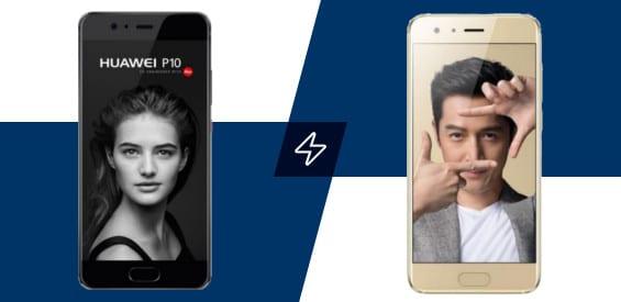 Vergleich Honor 9 und Huawei P10
