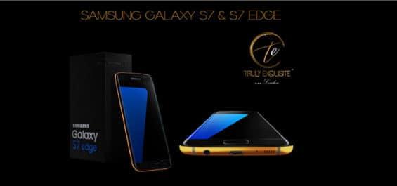 Vergoldetes Samsung Galaxy S7 (edge)