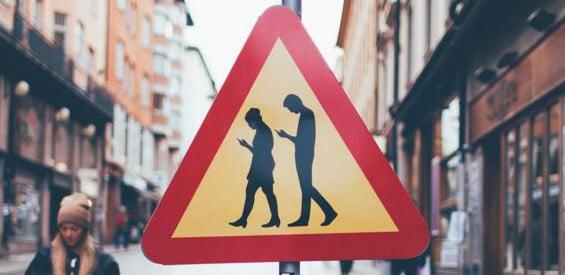 Verkehrsschild Fußgänger Stockholm