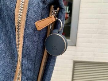 Vodafone Curve an einem Rucksack